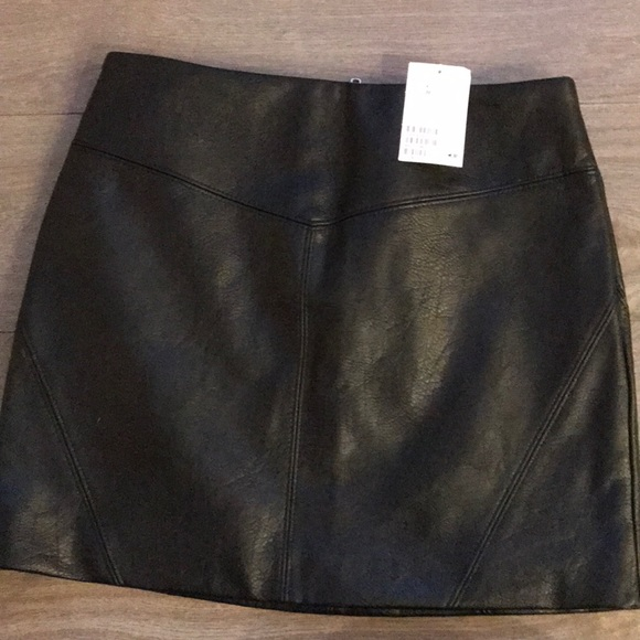 Leather skirt with tags
